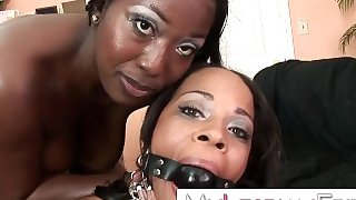 Black lesbian anal domination